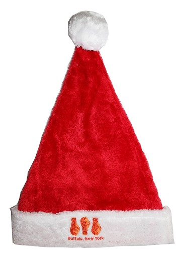 Chicken Wing Plush Santa Hat