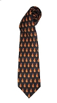 Chicken Wing Necktie (Navy with orange wings)