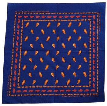 Chicken Wing Bandana Medium Blue