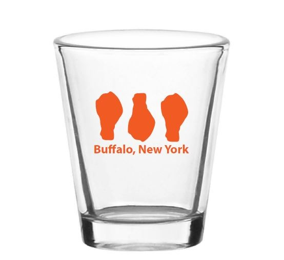 Buffalo Chicken Wing Shot Glass - set of two